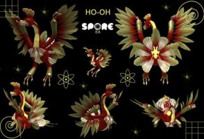 SPORE --- HO-OH by cristallic-suicune