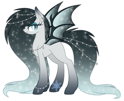 Icy Nights Bat Pony Adoptable - CLOSED by cayfie