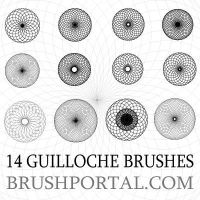 Guilloche Photoshop Brushes by Brushportal