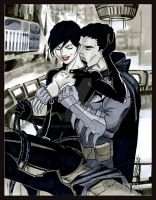 Selina and Bruce by Martheus Wade by martheus