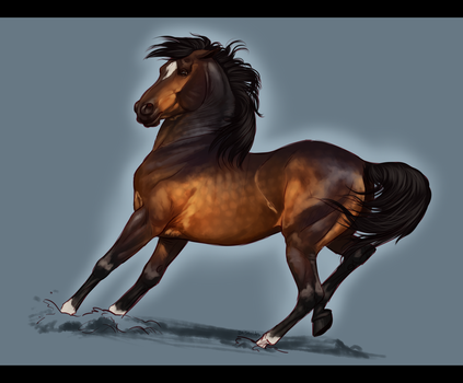 Banshee - Mini Commish for CSStables by BH-Stables