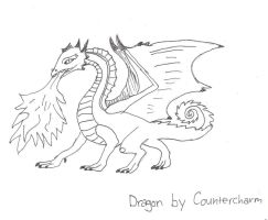 Dragon drawing by countercharm