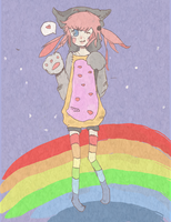 nyan cat girl by BadBurger