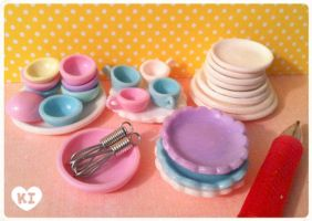 1:12 Miniature Kitchenwares by kicat