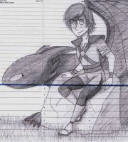 Hiccup and Toothless by dreamer45