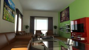 Living Room Design by oxide1xx