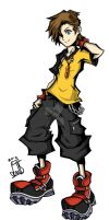 Justin Lockhart: TWEWY Style by CaineScroll