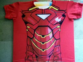 IRON MAN SUIT  T-SHIRT AIRBRISHED by javiercr69