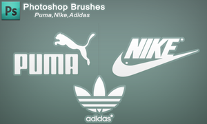 Photoshop Brush set - Adidas,nike,puma by h3tr1k