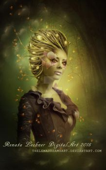 Woman-Flower by ThelemaDreamsArt