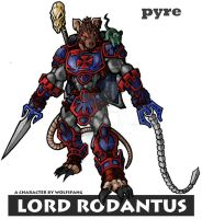 Pyre's Lord Rodantus In color by TheGreenSkeletor
