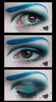 Blue eyeshadow by CupCakeMonsterCrafts