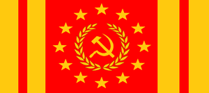 National Flag of the New Soviet Confederacy (NSC) by wolfmoon25