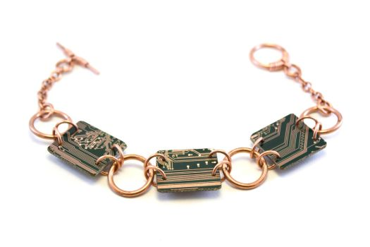 Circuit Board Bracelet - 15 by jupiter-storm