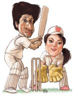 Cricketers by Spauldron