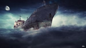 Ship in sky by Vreckovka