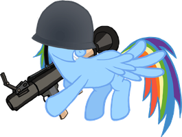 MLP:FIM-TF2 - Rainbow Dash the Soldier by ah-darnit