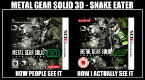 Metal Gear Solid 3D - How I actually see it *MEME* by LeonChiroCosplayArt