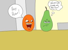 The Annoying Orange n' Pear by MysteryFanBoy718