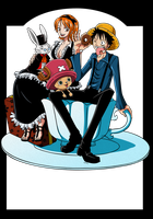 Luffy-Nami-Chopper by Narusailor
