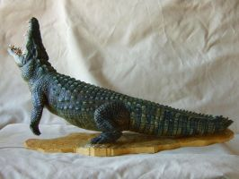 Nile Crocodile - painted- alternate angle by revenant-99