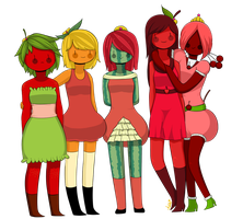 Fruit babes by AmethystHavana