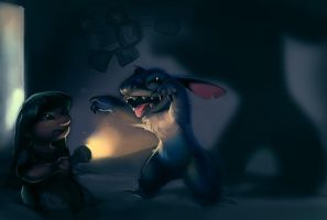 Lilo and stitch by NocturnalBrush