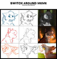 Switcharound Meme || DOW || Group 5 by rainwolfeh