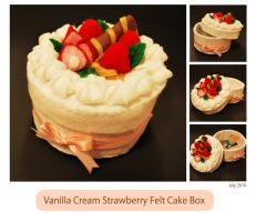 Vanilla Cream Strawberry Cake by ome-okane