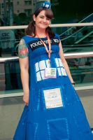 Tardis Gown- Dr. Who by gottabekittenme