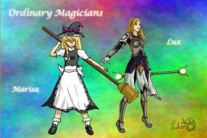 Lux + Marisa - Ordinary Mages by IceNinjaX77