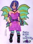 Aria Blaze as Vampire by clubpenguin1