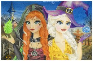 Frozen Halloween by Anoyliss