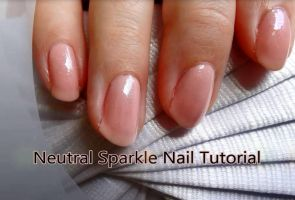 Neutral Sparkle Nail Tutorial. by RubyReminiscence