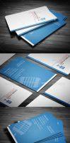 Sound Clean Corporate Busines Card by calwincalwin