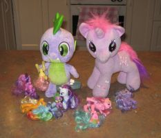 Spike's Little Ponies by CheerBearsFan