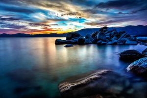 Tahoe East Shore Evening Color by sellsworth