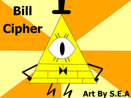 Gravity Falls-Bill Cipher by Squillarah