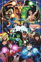 DC/Marvel Superheroines by George Perez by battle810