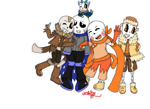 My Au Sans together by AshleyFluttershy