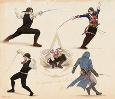 AC Unity fencing sketch by Vassantha