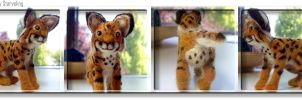 Needle Felt Bobcat by JELL-0