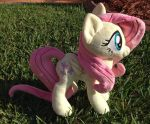 Fluttershy plush: single shot by NoxxPlush