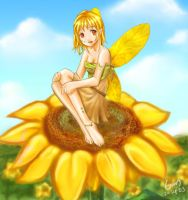 The Sunflower Fairy by ellessis