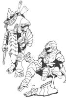 Warforged personalities by Pachycrocuta