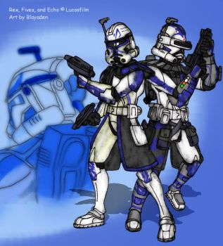 Fallen Brother: Rex Fives and Echo by Blayaden