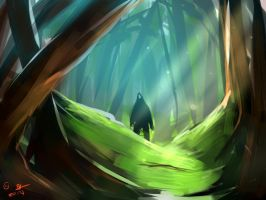 Lurker in the forest concept by Wakamash