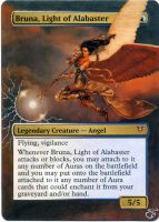 MTG Altered Card_Bruna, Light of Alabaster by GhostArm1911