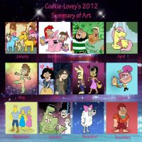 my 2012 Summary of Art by Cookie-Lovey
