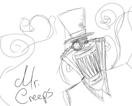 Mr. Creeps Sketchy Fanart by Snippett95